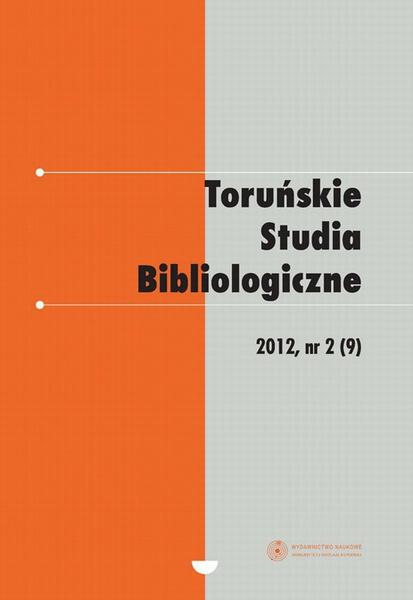 Toruńskie Studia Bibliologiczne 2(9)/2012