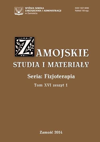Zamojskie Studia i Materiały. Seria Fizjoterapia. T. 16, z. 1