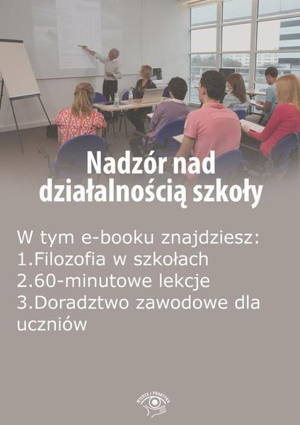 Nadzór nad działalnością szkoły, wydanie październik-listopad 2015 r.