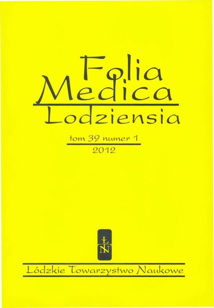 Folia Medica Lodziensia t. 39 z. 1/2012