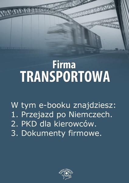Firma transportowa. Wydanie kwiecień-maj 2014 r.