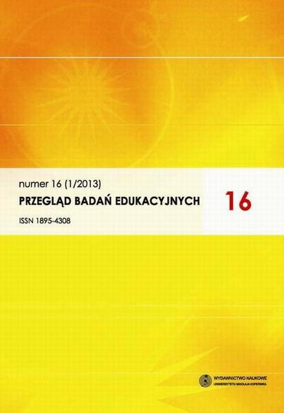 Przegląd Badań Edukacyjnych, nr 16 (1/2013)