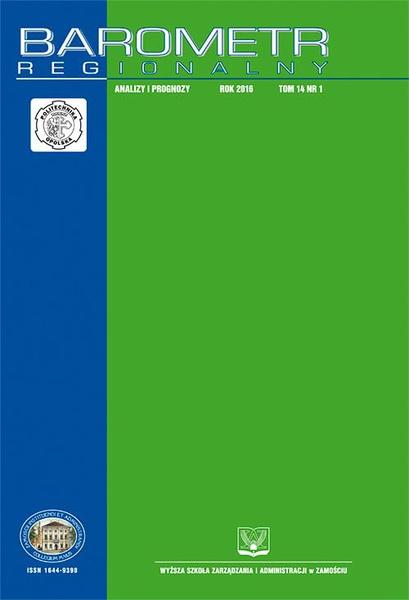 Barometr Regionalny. Analizy i Prognozy. T. 14, nr 1
