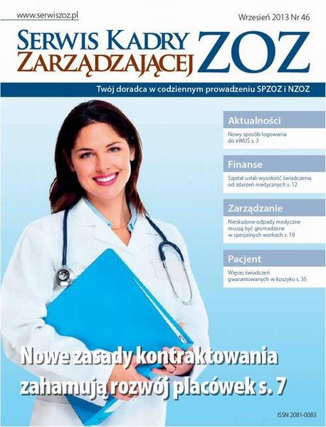 Serwis Kadry Zarzadzającej ZOZ wrzesień 2013 nr 46