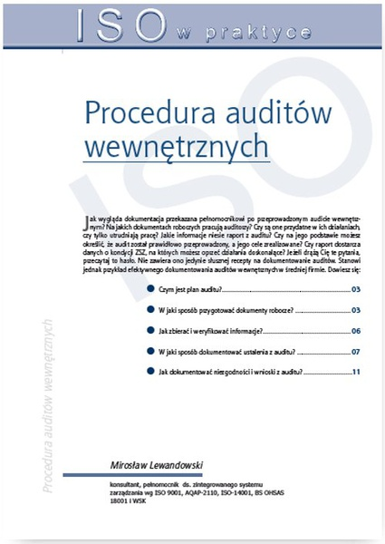 Procedura auditów wewnętrznych