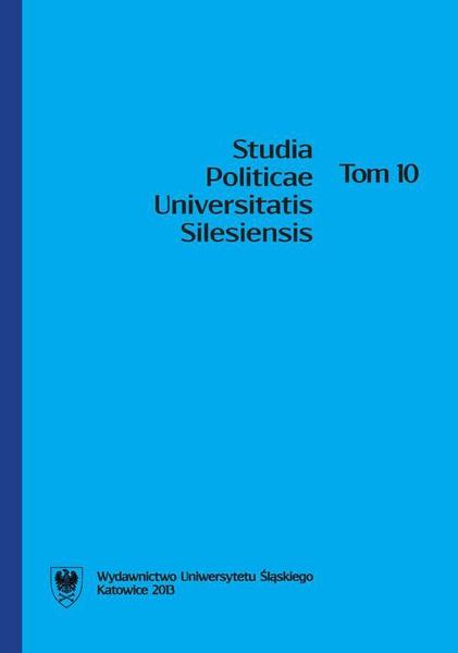 Studia Politicae Universitatis Silesiensis. T. 10