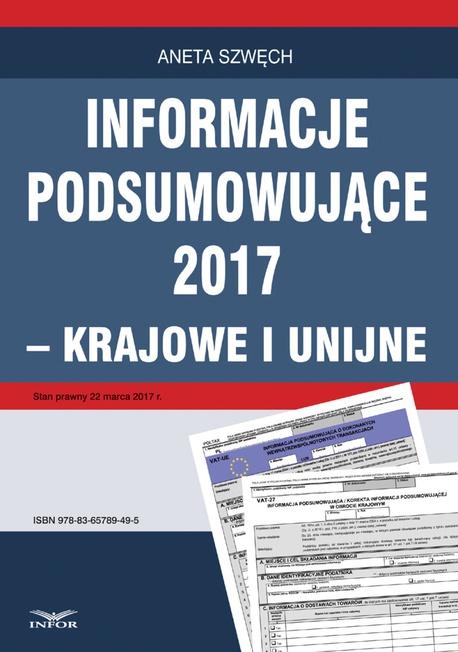 Informacje podsumowujące 2017 - krajowe i unijne - ANETA SZWĘCH