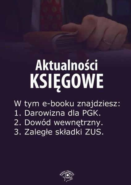 Aktualności księgowe, wydanie marzec 2014 r.