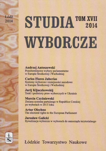 Studia Wyborcze t. 17