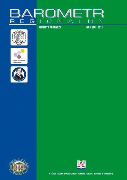 Barometr Regionalny : analizy i prognozy. Nr 4 (26)