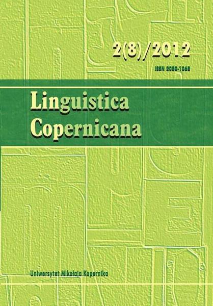 Linguistica Copernicana 2(8)/2012