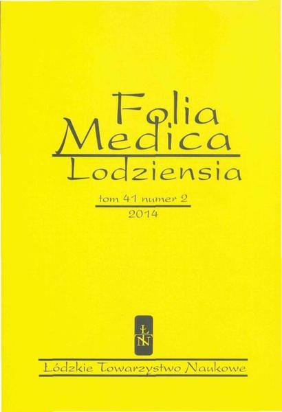 Folia Medica Lodziensia t. 41 z. 2/2014