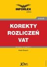 ebook Korekty rozliczeń VAT - ANETA SZWĘCH