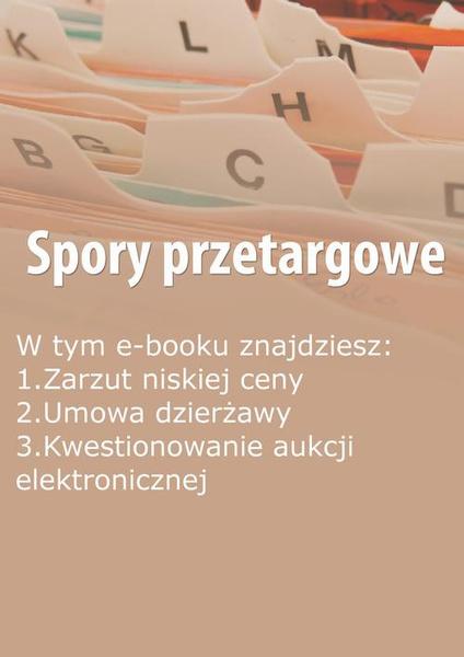 Spory przetargowe, wydanie październik 2014 r.
