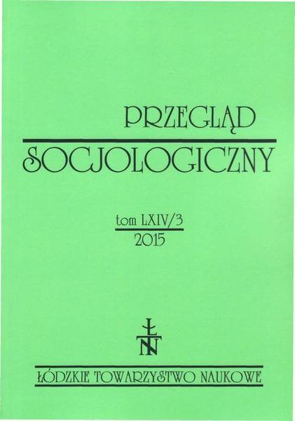 Przegląd Socjologiczny t. 64 z. 3/2015