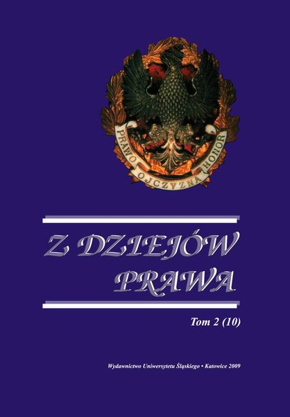 Z Dziejów Prawa. T. 2 (10)