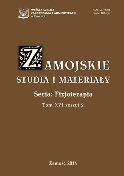 Zamojskie Studia i Materiały. Seria Fizjoterapia. T.16, z. 2