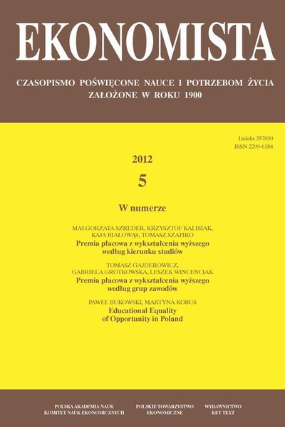 Ekonomista 2012 nr 5