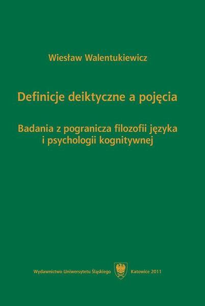 Definicje deiktyczne a pojęcia