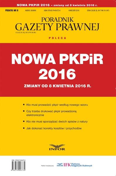 Nowa PKPiR - zmiany od 8 kwietnia
