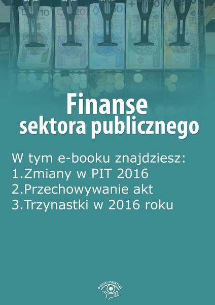 Finanse sektora publicznego, wydanie marzec 2016 r.