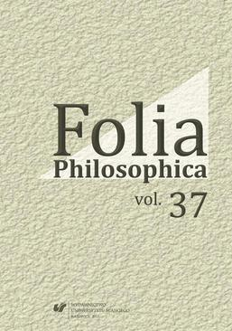 Folia Philosophica. Vol. 37