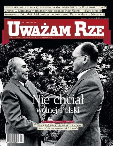 """""""Uważam Rze. Inaczej pisane"""" nr 36/2013"""