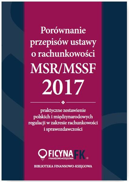 Porównanie przepisów ustawy o rachunkowości i MSR/MSSF 2017