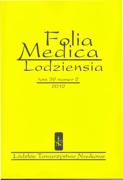 Folia Medica Lodziensia t. 39 z. 2/2012