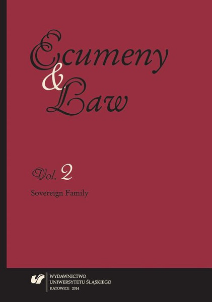 """""""Ecumeny and Law"""" 2014, Vol. 2: Sovereign Family"""