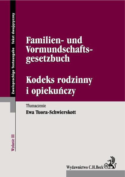 Kodeks rodzinny i opiekuńczy. Familien- und Vormundschaftsgesetzbuch