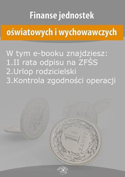 Finanse jednostek oświatowych i wychowawczych, wydanie maj 2016 r.