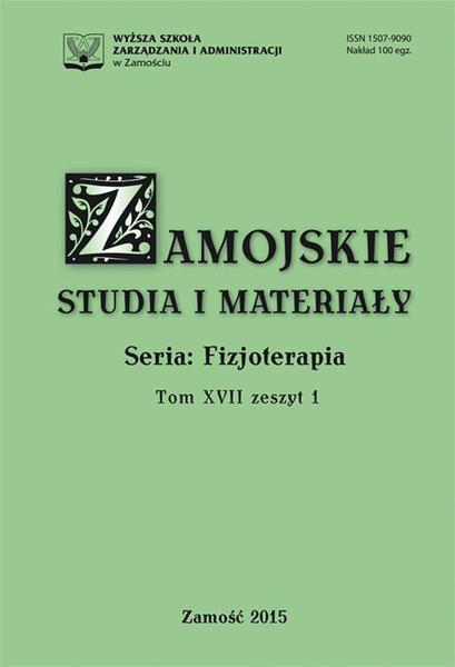 Zamojskie Studia i Materiały. Seria Fizjoterapia. T. 17, z. 1