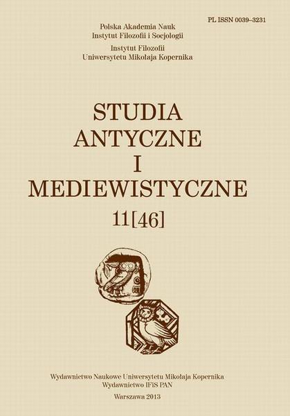 Studia Antyczne i Mediewistyczne, 11(46)/2013