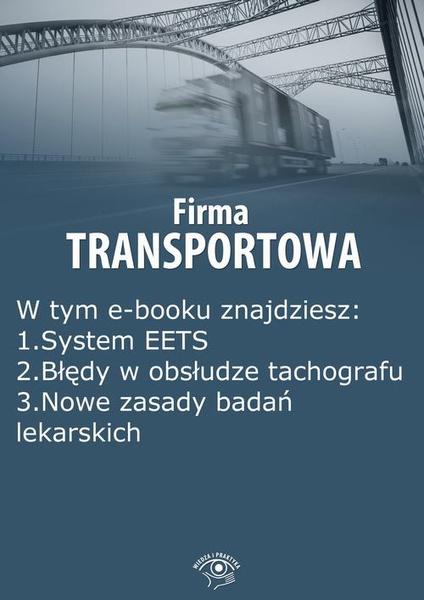 Firma transportowa, wydanie wrzesień 2014 r.